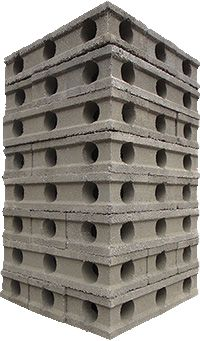 Low cost housing construction materials habitech for Insulated concrete block