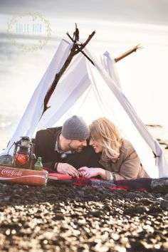 #engagementphotography #camping #vintage