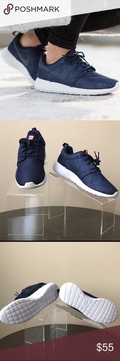 Women's Nike Roshe One Moire Women's Nike Roshe One Moire. Obsidian-White-Bright Mango. Never worn. ✨PRICE IS FIRM--NO OFFERS WILL BE ACCEPTED. THANK YOU  Nike Shoes Athletic Shoes