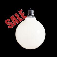 Industrial Vintage Style 125mm Opal Incandescent Globe Lamp Light Bulb ES 100W