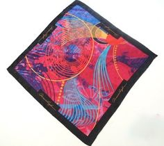 Glowing Silk Pocket Square 100% fine silk pocket square. size: 12.5 x 12.5. original design by artist Dominic Pangborn. artist's name on border.  #Pangborn_Design #Apparel