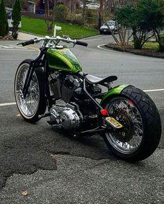 Custom Harley Davidson Bobber.