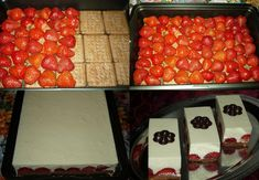 No Bake Strawberry Dessert Recipe Slovak Recipes, Strawberry Dessert Recipes, Baked Strawberries, Creative Food, I Love Food, No Bake Cake, Sweet Recipes, Delicious Desserts, Food And Drink