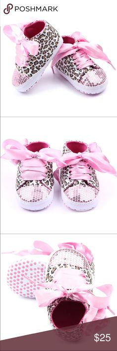 🆕0-6 Month Baby Cheetah Pink Sequin Shoes🆕 New! Shoes Sneakers