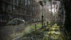 Post Apocalyptic Street, Antonio Figueiredo. #postapocalyptic #Art #gosstudio .★ We recommend Gift Shop: http://www.zazzle.com/vintagestylestudio ★