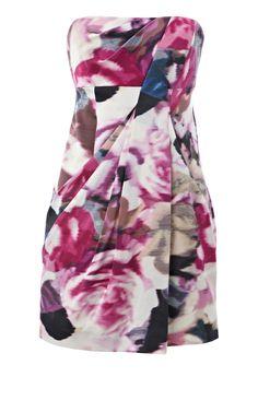 Karen Millen Silk rose print dress [#KMM081] - $90.15 :