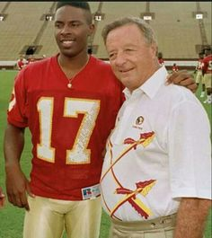 Two all time greats. Charlie Ward and Bobby Bowden, #fsu