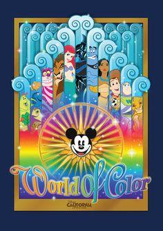 "New ""World of Color"" Merchandise Debuts at Disney California Adventure Park Disney Dream, Disney Love, Disney Disney, Disney Cruise, Disney Stuff, Disney Rides, Disney Parks, Orlando Disney, Arte Disney"