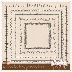 Doodled Borders ⊱✿-✿⊰ Join 4,400 others & follow the Free Digital Scrapbook board for daily freebies. Visit GrannyEnchanted.Com for thousands of digital scrapbook freebies. ⊱✿-✿⊰