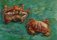 Van Gogh, Two Crabs, January 1889. Oil on canvas, 47 x 61 cm