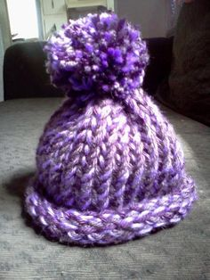 Hat Knitted on a Loom..