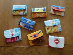 DIY purses out of empty milk boxes : tutorial ^^ | Mrs Busy