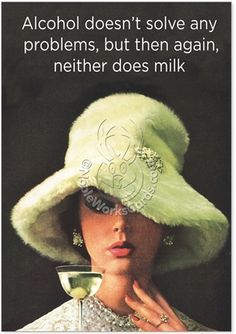 Drunken, Tipsy, Wine, Beer, Alcohol Milk And Alcohol Hilarious Picture Birthday Greeting Card Nobleworks