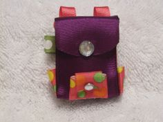 Sculptured Book Bag hair bow Back to School by CottonCollections, $1.50