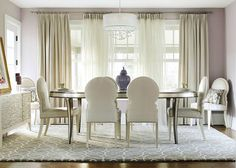 understated glam dining room 2 - Glam - Dining room - Images by KBW  Associates   Wayfair