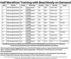 half marathon beachbody hybrid workout training schedule