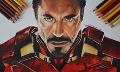 Colored pencils #drawing of #Ironman  Watch the video: https://youtu.be/EP7obMW9Ivw Subscribe for more drawings: https://www.youtube.com/c/isabelgiannuzzi #drawings #youtube