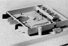 Proyecto de Casa de Vacaciones en Césareé, Israel. Oscar Niemeyer.