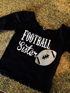 Perfect shirt for a sister to cheer on her tackling brother on the football field! by TheWhiteLilly on Etsy