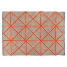 GRID Large taupe and orange rug 170 x 240cm | Buy now at Habitat UK