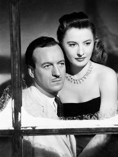 Barbara Stanwyck and David Niven photographed for The Other Love, 1947