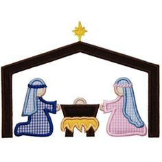 By Category :: Holidays & Special Occasions :: Christmas :: Nativity Scene Applique - Embroidery Boutique