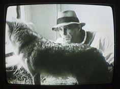 Joseph Beuys 1974 with coyote
