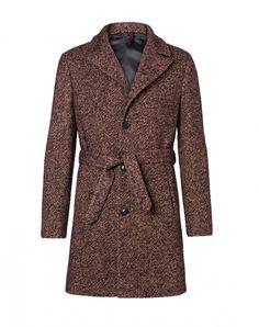 Sisley uomo autunno inverno 2014 2015 è dandy e bohemian.  Sisley cappotto in tweed di lana e mohair 169.00 euro