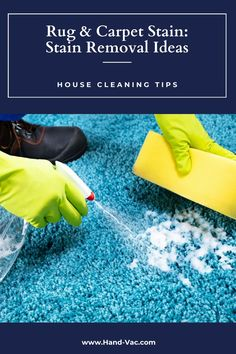 Great ideas for how to remove stains from the rug. Check out the ones like blood stain and red wine stain. House Cleaning Tips, Cleaning Hacks, Red Wine Stains, Stain Remover Carpet, Removing Carpet, Remove Stains, Carpet Stains, Clean House, Rugs On Carpet