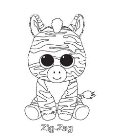 Beanie Boo Coloring Pages Pleasing Print Scraps Beanie Boo Coloring Pages  Coloring Quilt .