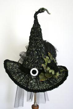 Heirloom Victorian Witch Hat by Studio Sisu Hand by StudioSisu
