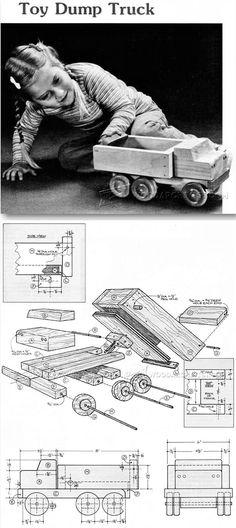 Wooden Dump Truck Plans - Children's Wooden Toy Plans and Projects  | WoodArchivist.com