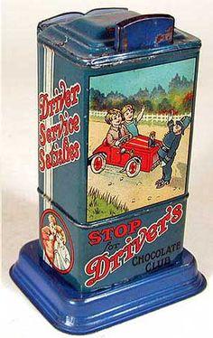 Antique candy tin