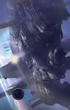 Massive spaceship, #spaceopera #scifi inspiration
