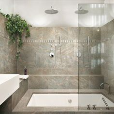 love the combined seating, shower & tub with jacuzzi jets!!!! Would love it when the basement bathroom goes in :)