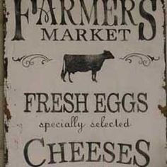 Vintage Farmers Market Sign  make it look vintage but new.  I could do this
