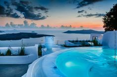 mysterious clouds over Santorini