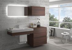 os presentamos MUEBLE BAÑO serie ATEMPO de FINSA acabado ACACIA CHOCO Vanity, Bathroom Vanity, Double Vanity, Bathroom