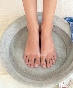 For insomnia?  I must try!!  Pinner says:  Every night before I go to bed, I soak my feet for 10-20 min. in the hottest water I can stand w/Epsom salts and/or essential oils.  I just sit on the side of the tub and read with my feet in the bathtub.  Pat dry, then massage my lavendar After Bath lotion and go to bed - it REALLY helps sleep! (and I'm hoping it helps make my feet prettier for sandals!)