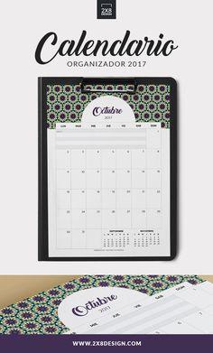 No te pierdas los calendarios organizadores 2017 - ES GRATIS! Incluye 12 calendarios mensuales A4 en archivo PDF. Descargalo en http://www.2x8design.com/calendario-imprimible-2017/