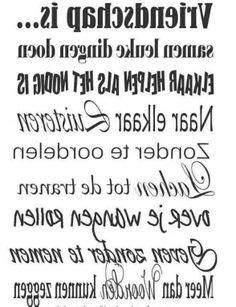 Tekst spiegelbeeld