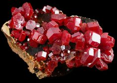 Vanadinite from Mibladen, Atlas Mountains, Khenifra Province, Morocco