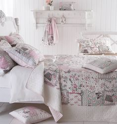 Floral Pink Quilted Bedspread This quilt has a gorgeous design, with butterflies and flowers sprinkled throughout. The gentle shades and quilted finish give it a soft vintage feel. The quilt has a lovely pink stripe reverse. Available to buy on its own or as a set which includes x1 pillowsham in the single and two in the double and king sizeMade from soft 100% microfiber Single: 190 x 250 cm Double: 215 x 260 cm King: 270 x 260 cm Pillowsham: 50 x 76 cm (Sold Out)