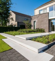 Outdoor Rooms, Outdoor Living, Yard Stones, Stair Steps, Modern Landscaping, Garden Structures, Home And Garden, Facade, House Design