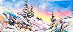 Last Run by Anne Watson Sorensen Watercolor ~ 11 x 17