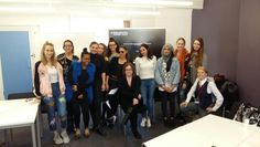 Regent's University London fashion journalism and marketing students meet After Nyne's Claire Meadows.