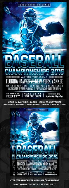 Baseball Flyer  Flyer Template Fonts And Event Flyers