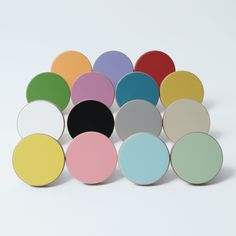 Door Knob . Coloured Wooden Knobs | E room | Pinterest | Door knobs ...