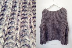 Maskedilla: Ribbestrikket genser - gratis mønster!