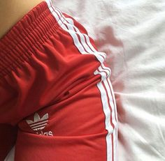 Adidas Originals red track pants